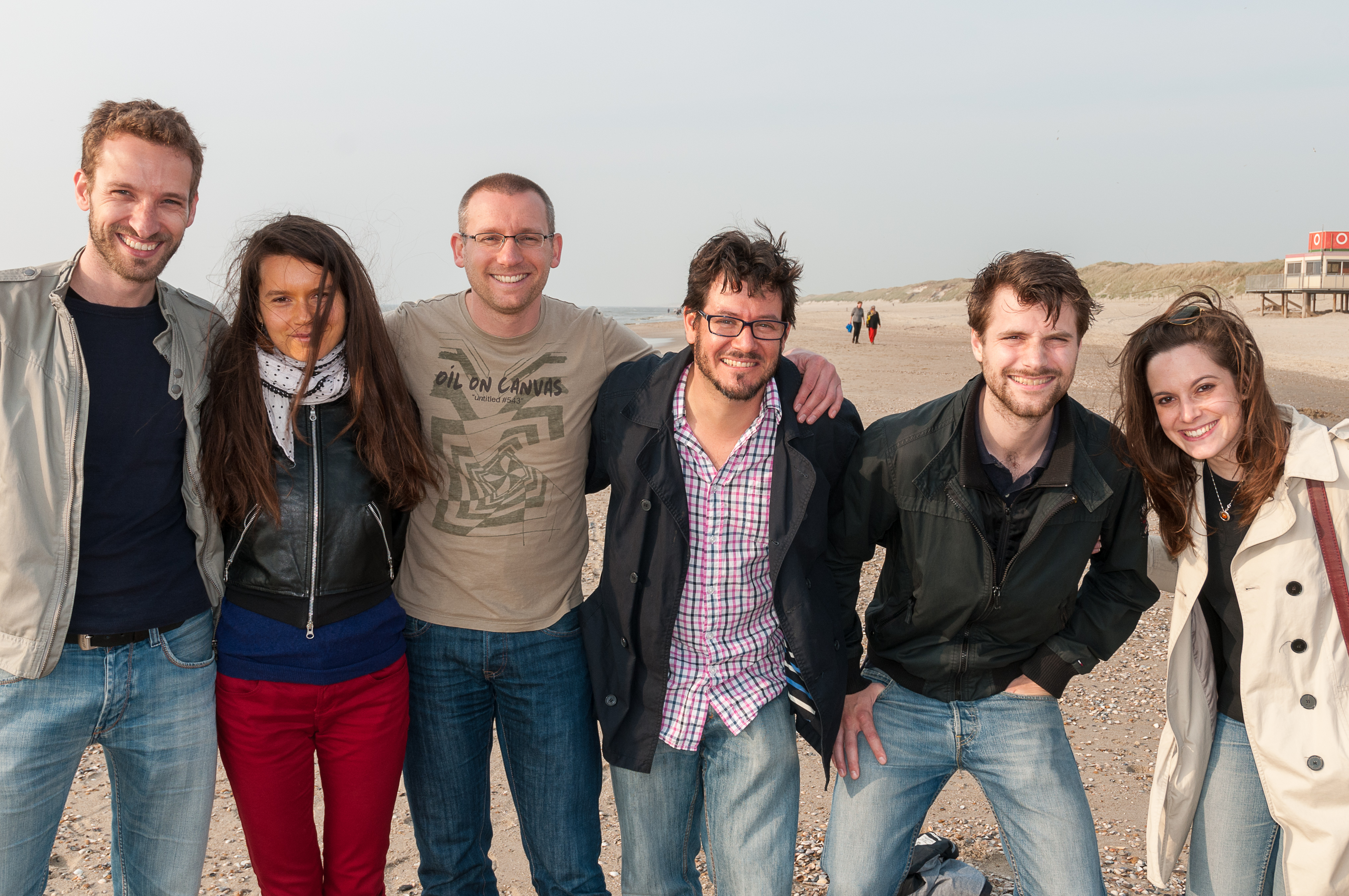 Photo of all EASI Lab members in 2014